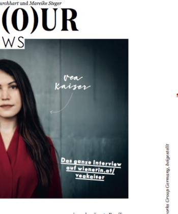 Portfolio: Vea Kaiser-Interview für WIENERIN